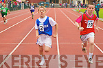 Sean Cleary (Killorglin) narrowly beats Tadgh O'Carroll (Ballybunion) in the under 10 boys 200m heaths at the Kerry Community Games finals at Castleisland on Saturday.