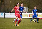 2018-03-11 / Voetbal / Seizoen 2017-2018 / Vosselaar VV - Kapellen / Robbe Kil (l. Kapellen) met Jonas Nijs<br /> <br /> ,Foto: Mpics.be