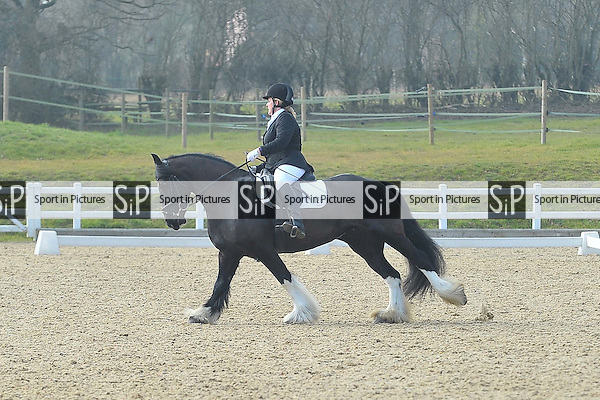 Class 4. British Dressage. Brook Farm Training Centre. Essex. 12/03/2016. MANDATORY Credit Ellie Ingram/Sportinpictures - NO UNAUTHORISED USE - 07837 394578