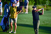 Adam Scott (AUS) watches his approach shot on 10 during round 2 of the Shell Houston Open, Golf Club of Houston, Houston, Texas, USA. 3/31/2017.<br /> Picture: Golffile | Ken Murray<br /> <br /> <br /> All photo usage must carry mandatory copyright credit (&copy; Golffile | Ken Murray)