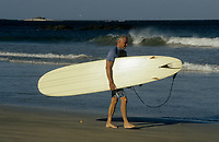 Costa Rica - file Photo -Tamarindo ,older surfer (NO MODEL RELEASE)