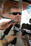 13 June 2008: Jeff Burton is interviewed at the LifeLock 400 at Michigan International Speedway, Brooklyn, Michigan, USA.