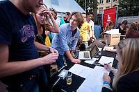 Utrecht, 25 september 2011.Nederlands Film Festival.48 hour project, drop-off.Foto Felix Kalkman