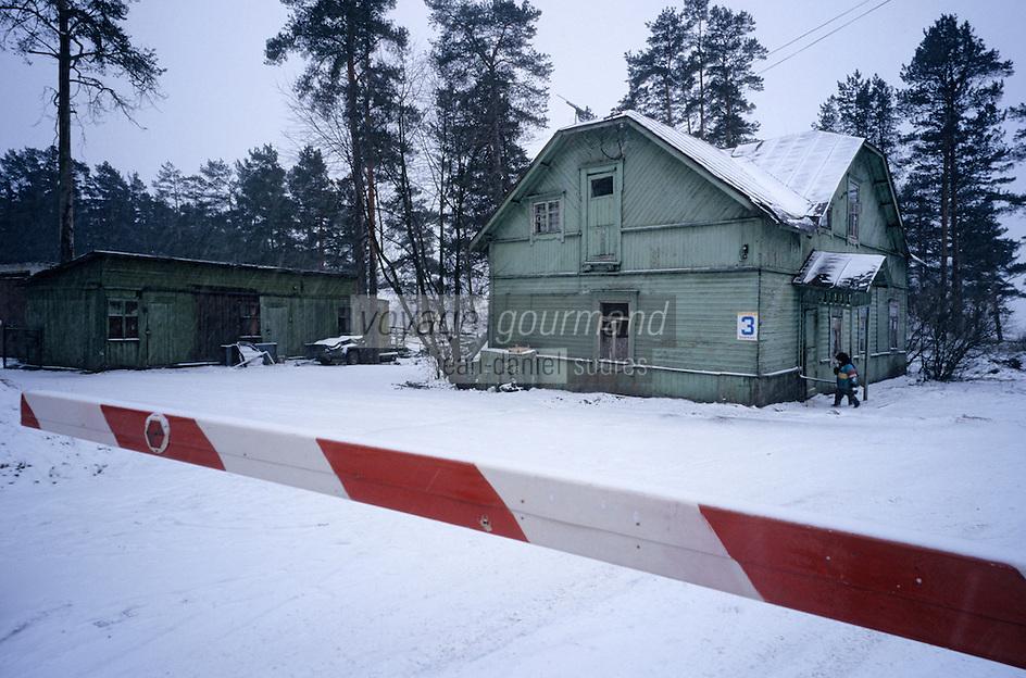 Europe-Asie/Russie/Env Saint-Petersbourg: Datcha sur les bords du Golfe de Finlande