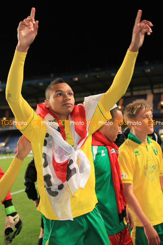 Josh Murphy celebrates winning the F A Youth Cup - Chelsea Youth vs Norwich City Youth - FA Youth Cup Final 2nd Leg Football at Stamford Bridge, London - 13/05/13 - MANDATORY CREDIT: Paul Dennis/TGSPHOTO - Self billing applies where appropriate - 0845 094 6026 - contact@tgsphoto.co.uk - NO UNPAID USE.