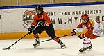 06.01.2020, BLZ Arena, Füssen / Fuessen, GER, IIHF Ice Hockey U18 Women's World Championship DIV I Group A, <br /> Japan (JPN) vs Daenemark (DEN), <br /> im Bild Kaho Suzuki (JPN, #13), Frederikke Foss (DEN, #5)<br />  <br /> Foto © nordphoto / Hafner