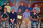 Pictured at the Killarney Rugby Club awards night in the Killarney Avenue on Sunday night were Brian O'Sullivan, player of the year, Junior Finnegan, President, Sean O'Sullivan, honourary life membership award, Bill Stack, Adrian Hegarty, special achievement award, Keith O'Leary, best new comer, Luke O'Sullivan, team manager, Alan Mulligan, Clubman award, Sean Hickey, special achievement award and Mike Nash, Most Committed Player..............