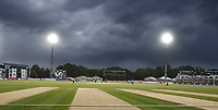 Storms hit Canterbury during the Vitality Blast T20 game between Kent Spitfires and Sussex Sharks at the St Lawrence Ground, Canterbury, on Fri July 27, 2018