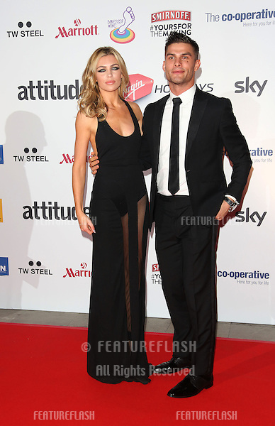 Abbey Clancy and Aljaz Skorjanec at the Attitude Magazine Awards 2013 - Arrivals held at the Royal Courts of Justice, London. 15/10/2013 Picture by: Henry Harris / Featureflash