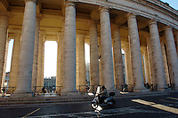 A person on a scooters drives past St. Peter's Square in Rome, Italy March 2, 2006. (Photo by Alan Greth)