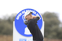 Jeff Winther (DEN) on the 11th tee during Round 3 of the Open de Espana 2018 at Centro Nacional de Golf on Saturday 14th April 2018.<br /> Picture:  Thos Caffrey / www.golffile.ie<br /> <br /> All photo usage must carry mandatory copyright credit (&copy; Golffile | Thos Caffrey)