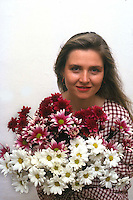 Ambiente.Environment.Ragazza con fiori.Girl with flowers....