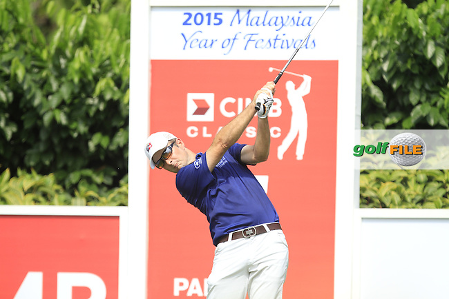 Kevin Streelman (USA) on the 5th tee during Round 4 of the CIMB Classic in the Kuala Lumpur Golf &amp; Country Club on Sunday 2nd November 2014.<br /> Picture:  Thos Caffrey / www.golffile.ie