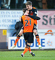 Dundee Utd's Charlie Telfer celebrates (21) with Blair Spittal after he scores their first goal.