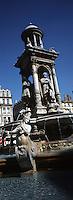 Europe/France/Rhône-Alpes/69/Rhone/Lyon: La Place des Jacobins et la fontaine des Jacobins (1886)