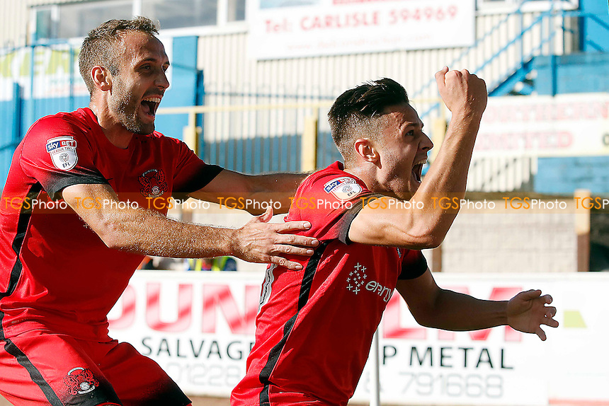 O's Harry Cornick scores and celebrates with Liam Kelly during Carlisle United vs Leyton Orient, Sky Bet EFL League 2 Football at Brunton Park on 10th September 2016
