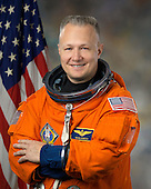 Individual portrait of STS-135 pilot Doug Hurley in Advanced Crew Escape Suit (ACES) taken in Houston, Texas on February 11, 2011.  STS-135, the last space shuttle mission, is scheduled for launch on Friday, July 8, 2011..Mandatory Credit: Bill Stafford / NASA via CNP