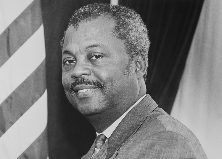 Portrait of Rep. Donald M. Payne, D-N.J., on Oct. 1, 1992. (Photo by Kathleen Beall/CQ Roll Call via Getty Images)