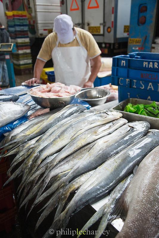 Fish Market in Villa Mar?a del Triunfo district of Lima, Peru, South America
