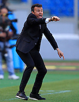 Calcio, Serie A: Roma-Fiorentina. Roma, stadio Olimpico, 25 aprile 2012. L'allenatore della Roma Luis Enrique da' indicazioni ai suoi giocatori..AS Roma coach Luis Enrique, of Spain, gestures to his players during the Italian Serie A football match between AS Roma and Fiorentina, at Rome, Olympic stadium, 25 april 2012..UPDATE IMAGES PRESS/Riccardo De Luca