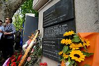 Roma, 12 Maggio 2017<br /> Fiori sulla lapide di Giorgiana Masi a Ponte Garibaldi nel 40 &deg; anniversario della sua uccisione.