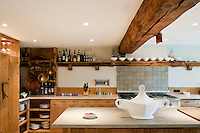 The functional and organised kitchen is an example of rustic modernity