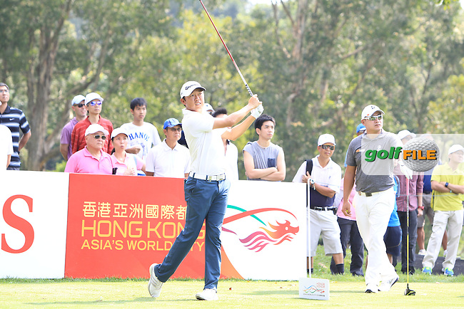 David Lipsky (USA) on the 11th tee during Round 1 of the 2015 UBS Hong Kong Open at the Hong Kong Golf Club in The Netherlands on 2/10/15.<br /> Picture: Thos Caffrey | Golffile