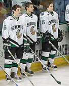Zach Jones, Rastislav Spirko, Ryan Duncan - The University of Minnesota Golden Gophers defeated the University of North Dakota Fighting Sioux 4-3 on Friday, December 9, 2005, at Ralph Engelstad Arena in Grand Forks, North Dakota.