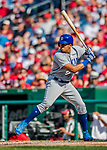 29 June 2017: Chicago Cubs infielder Jeimer Candelario in action against the Washington Nationals at Nationals Park in Washington, DC. The Cubs rallied to defeat the Nationals 5-4 and split their 4-game series. Mandatory Credit: Ed Wolfstein Photo *** RAW (NEF) Image File Available ***