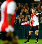 Nederland, Rotterdam, 24 september 2015<br /> KNVB Beker<br /> Seizoen 2015-2016<br /> Feyenoord-PEC Zwolle (3-0)<br /> Dirk Kuyt, aanvoerder van Feyenoord geeft aanwijzingen
