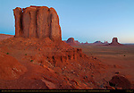 Cly Butte and Artist's Point at Dawn, Monument Valley Navajo Tribal Park, Navajo Nation Reservation, Utah/Arizona Border