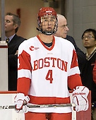 (Bavis, Prior) Adam Clendening (BU - 4) - The Boston University Terriers defeated the visiting Providence College Friars 2-1 on Saturday, October 23, 2010, at Agganis Arena in Boston, Massachusetts.