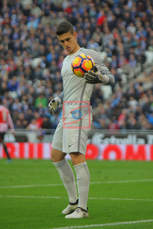League Santander 2016/2017. Game: 11.<br /> RCD Espanyol vs Athletic Club: 0-0.<br /> Kepa Arrizabalaga.