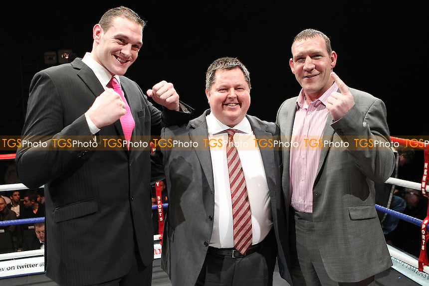 Promoter Mick Hennessy  - Tyson Fury and Martin Rogan promote their upcoming fight ,Boxing contest at the Magna Centre, Rotherham, promoted by Hennessy Sports - 18/02/12 - MANDATORY CREDIT: Chris Royle/TGSPHOTO - Self billing applies where appropriate - 0845 094 6026 - contact@tgsphoto.co.uk - NO UNPAID USE...
