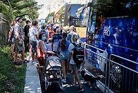 crowds gathering to see Julian Alaphilippe (FRA/Deceuninck-QuickStep) at the race start in Nice<br /> <br /> Stage 2 from Nice to Nice (186km)<br /> <br /> 107th Tour de France 2020 (2.UWT)<br /> (the 'postponed edition' held in september)<br /> <br /> ©kramon