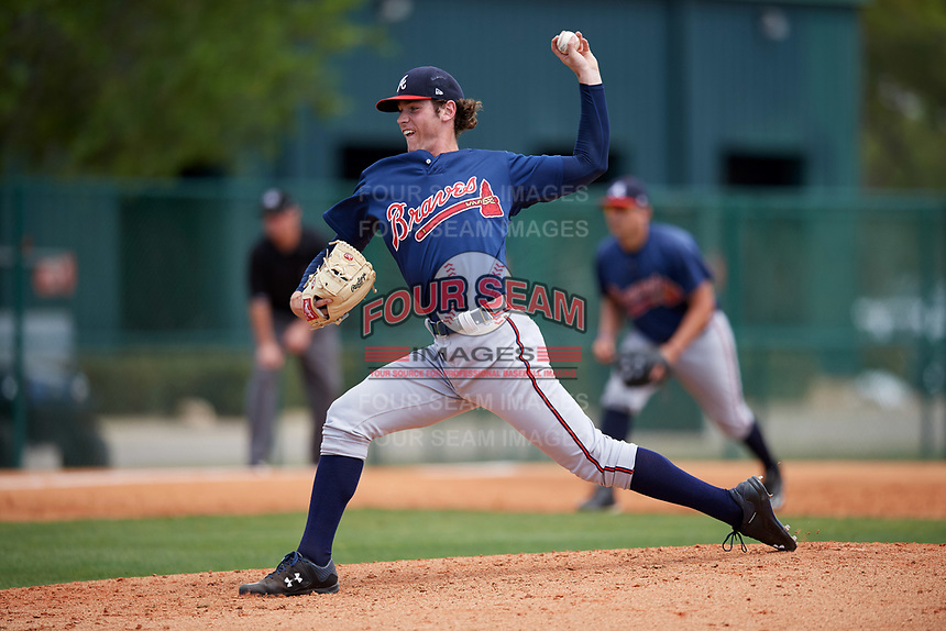 Atlanta Braves pitcher Joey Wentz (49) during a minor league Spring Training game against the Detroit Tigers on March 25, 2017 at ESPN Wide World of Sports Complex in Orlando, Florida.  (Mike Janes/Four Seam Images)