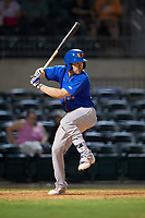 Midland RockHounds center fielder J.P. Sportman (25) at bat during a game against the Arkansas Travelers on May 25, 2017 at Dickey-Stephens Park in Little Rock, Arkansas.  Midland defeated Arkansas 8-1.  (Mike Janes/Four Seam Images)