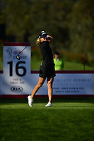 Anna Nordqvist (SWE)  plays her shot from the 16th tee during the Final Round at the Kia Classic,Park Hyatt Aviara Resort, Golf Club &amp; Spa, Carlsbad, California, USA. 3/25/18.<br /> Picture: Golffile | Bruce Sherwood<br /> <br /> <br /> All photo usage must carry mandatory copyright credit (&copy; Golffile | Bruce Sherwood)