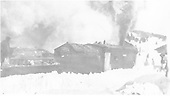 Rotary snowplow working through snow near Cumbres depot.<br /> D&amp;RG  Cumbres, CO