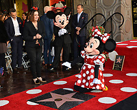 Minnie Mouse & Mickey Mouse at the Hollywood Walk of Fame Star Ceremony honoring Disney character Minnie Mouse, Los Angeles, USA 22 Jan. 2018<br /> Picture: Paul Smith/Featureflash/SilverHub 0208 004 5359 sales@silverhubmedia.com