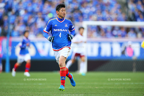 Yuzo Kurihara (F Marinos), <br /> FEBRUARY 21, 2015 - Football / Soccer :<br /> 2015 J.League Pre-season match between <br /> Yokohama F Marinos 0-1 Matsumoto Yamaga FC <br /> at Nissan Stadium in Kanagawa, Japan. <br /> (Photo by Yohei Osada/AFLO SPORT) [1156]