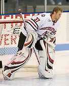 Chris Rawlings (NU - 37) - The Northeastern University Huskies defeated the Bentley University Falcons 3-2 on Friday, October 16, 2009, at Matthews Arena in Boston, Massachusetts.