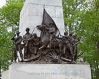 Gettysburg National Military Park, PA<br /> Detail of the lower portion of the Virginia Monument  on Seminary Ridge