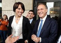 Presentazione dei candidati campani del Nuovo centro destra alle elezioni europee<br /> nella foto Nunzia De Girolamo con Lorenzo Cesa