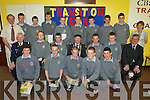 Transition year students from CBS The Green, Tralee,.who recieved Transition Year Certificates, First Aid.Certificates and Road Safety Certificates at the.Transition Year Mass held in the school on Thursday.evening. Front l/r Eoghan Galvin, Daniel Kerins, Barry.Keane, Daniel Walsh and Hayden Fitzgerald.Seated l/r.Mr Tom Brosnan, Kerry Civil Defence Chief Officer,.Daniel Hanafin, John Paul O'Brien, Mr Michael.Healy-Rae, Mayor of Kerry, Aidan O'Connell, Alex.Dolan-Magee and Mr O'Keeffe, Principal.Standing l/r Mr.Barrett, Transition Year Coordinator, Jamie Byrne,.Colm O'Shea, Robert Delaney, Declan Lindsey, Kevin.Sweeney, John Horgan, Daniel O'Mahony, Christian Walsh.and Ms English, teacher.