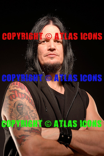 Disturbed : Lead Guitarist Dan Donegan,.Studio Session In Chicago, on 2009,.Photo Credit: Eddie Malluk/Atlasicons.com