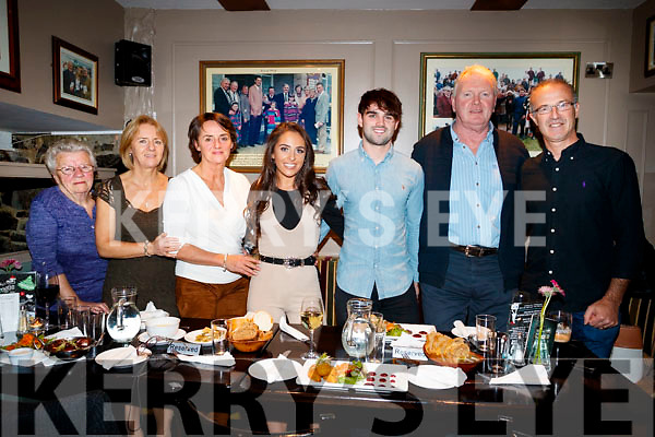 Esther, Deirdre and Siobhan Coffey with Brogan O'Sullivan, Cormac Coffey, Mervyn Griffin and Ian Moss, all from Tralee enjoying a family gathering in the Brogue Inn, Tralee, on Saturday night last.