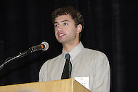 14 June 2001: Nicholas Furrow wins an award at the Athletic Board Awards Luncheon at Burnham Pavilion in Stanford, CA.