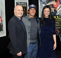 "NEW YORK - DECEMBER 5:  L-R: Editor Bob Eisenhardt, climber/director Jimmy Chin and director E. Chai Vasarhelyi attend a screening of National Geographic Documentary Films ""Free Solo"" at the Walter Reade Theater on December 5, 2018 in New York City. (Photo by Stephen Smith/National Geographic/PictureGroup)"