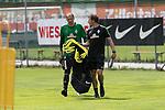 11.07.2017, Sportplatz, Zell am Ziller, AUT, TL Werder Bremen 2017 - Training Tag 05, <br /> <br /> im Bild <br /> Jaroslav Drobny (Werder Bremen #33)<br /> G&uuml;nther / Guenther Stoxreiter (Athletik-Trainer Werder Bremen)<br /> <br /> Foto &copy; nordphoto / Kokenge